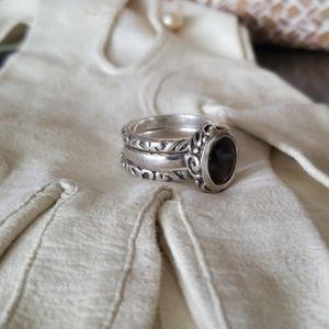 Silpada ~ Smoky Quartz Stackable Rings set